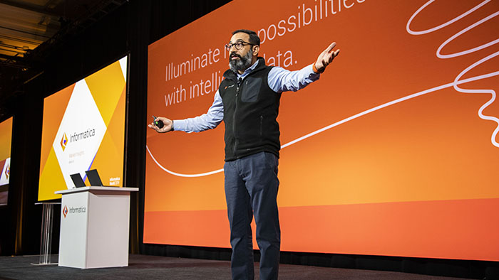 Amit Walia, president of Products and Marketing at Informatica kicks off Market Perspectives Day at Informatica World 2019