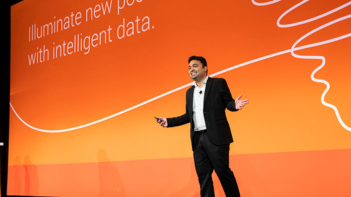 Gartner Analyst Ehtisham Zaidi takes the stage at Informatica World 2019