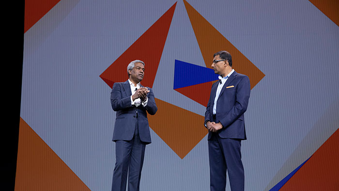 Google Cloud CEO Thomas Kurian with Informatica CEO Anil Chakravarthy